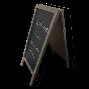 Wooden Double Sided Blackboard pic2 DDI001407 600x600