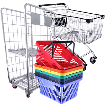 Baskets, Trolleys<br>& Accessories